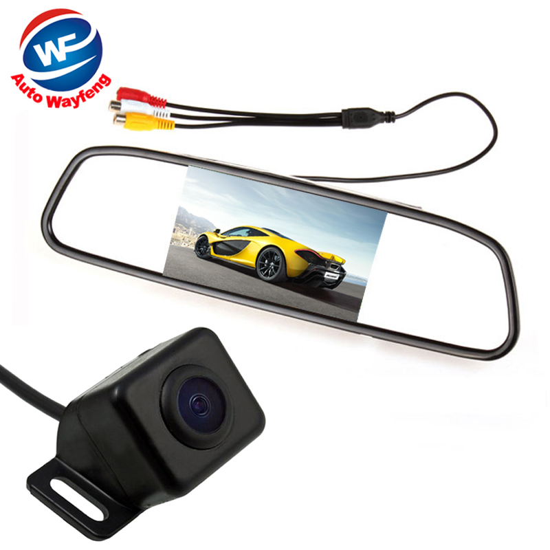 №Auto Parking Assistance System 2 in 1 4.3 Digital TFT LCD Mirror ...
