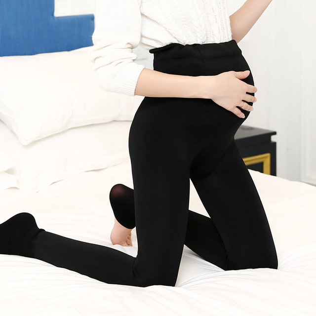 fd7646fb47214 2018 Winter Pregnancy Leggings Warm Coton Maternity Pants for Pregnant  Women Adjustable High Elastic Belts Maternity Clothes