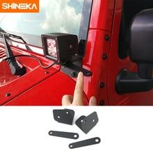Shineka車ユニバーサルledワークライト柱フード取付ブラケット用ジープラングラーjk 2007 2017 外装部品