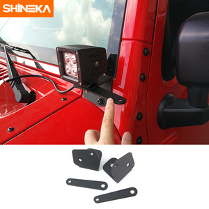 Image 1 - Shineka車ユニバーサルledワークライト柱フード取付ブラケット用ジープラングラーjk 2007 2017 外装部品