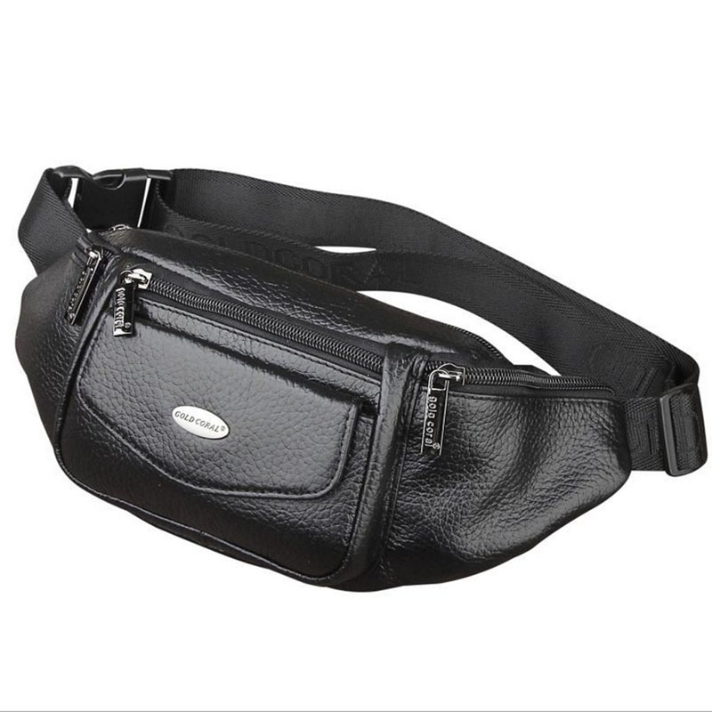 Men Genuine Leather Fanny Waist Bag Travel Hip Belt Cell Phone Case Purse Single Back Pack Sling Chest Day Pack New ...