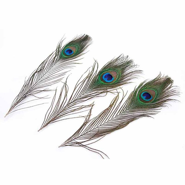 100pcs peacock feather baby bridal shower birthday anniversary cake topper wedding invitation table top centerpieces skirt
