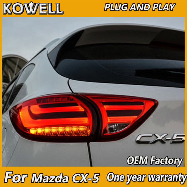 KOWELL تصفيف السيارة لمازدا CX 5 CX5 2013 3014 الذيل ضوء LED الضوء الخلفي DRL الفرامل بارك إشارة بدوره ضوء وقف مصباح دليل