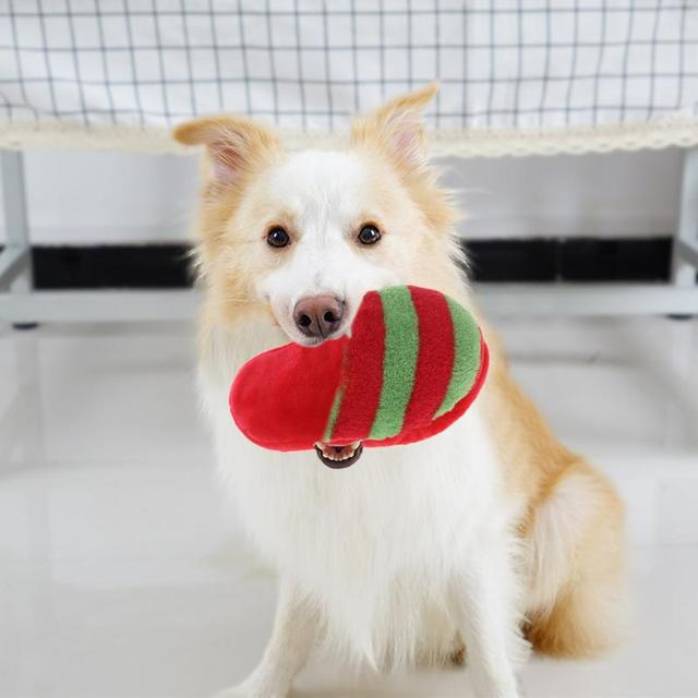 Plush Home Slippers Shaped Dog Toy