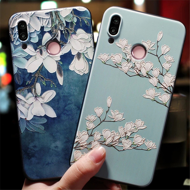 3D Matte Flowers Case For Huawei P20 Lite Pro Case For Huawei P30 Mate 20 10 Honor 8X 9 10 Lite Pro TPU Case P Smart 2019 Cover