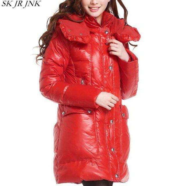 Thicken Hooded Waterproof Warm White Duck Down Jacket 2017 Winter Women Fashion Slim Down Jacket Female Plus Size Parka WFY163