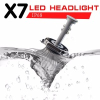 Super Bright 1 Pair H4 HB2 9003 Car Headlight Bulb Hi Lo Beam IP68 Waterpoof LED