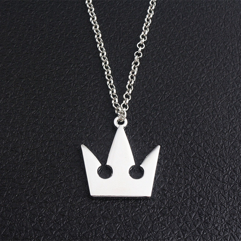 Anime Kingdom Hearts Sora Metal Pendant Necklace For Men Women Fashion Accessories Or Creative Gift