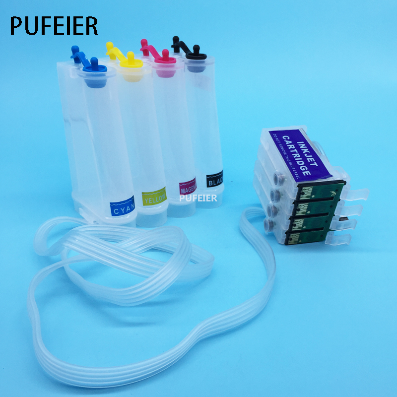 T1171 T0732N-T0734N Empty CISS Ink System With Permanent Chip For Epson Stylus T23 T24 TX105 TX115 11colors 200ml empty ink cartridge with ink bag for epson stylus photo 4900 printer with arc chip
