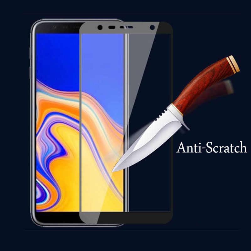 زجاج حماية على سامسونج j6 j4 plus حامي الشاشة غالاكسي j6plus j4plus الزجاج المقسى Samsun Samsong galax Galxy 9H