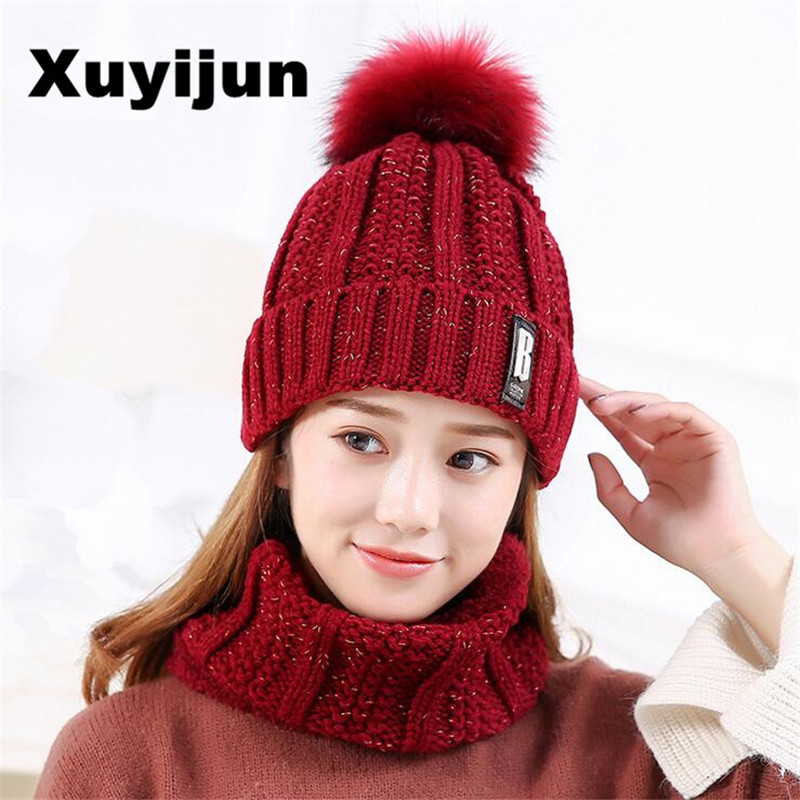 XUYIJUN Winter Hats Skullies Beanies Hat Winter Beanies For Men Women Wool Scarf Caps Balaclava Mask Gorras Bonnet Knitted Hat knit winter hats for men women bonnet beanies skullies caps winter hat cap balaclava beanie bird embroidery gorros