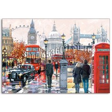 5D,DIY,Diamond Painting,London Collage,Monuments,Full,Diamond Embroidery,Needlework, Rhinestones,Mosaic,Cross Stitch,Decoration(China)