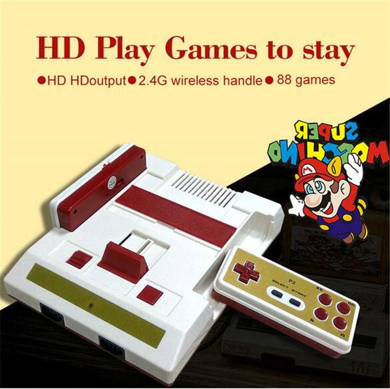 bilder für Neue HD Video Spielkonsole 588 kostenlose spiele High definition HDMI TV Out mit wireless gamepad controller für fc 8 bit spiele