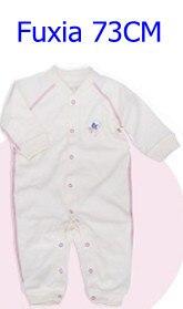 Комбинезоны для маленьких мальчиков и девочек, коллекция года, Одежда для новорожденных и малышей, детский хлопковый комбинезон с длинными рукавами, Красивый хлопковый комбинезон унисекс - Цвет: 73CM FUXIA