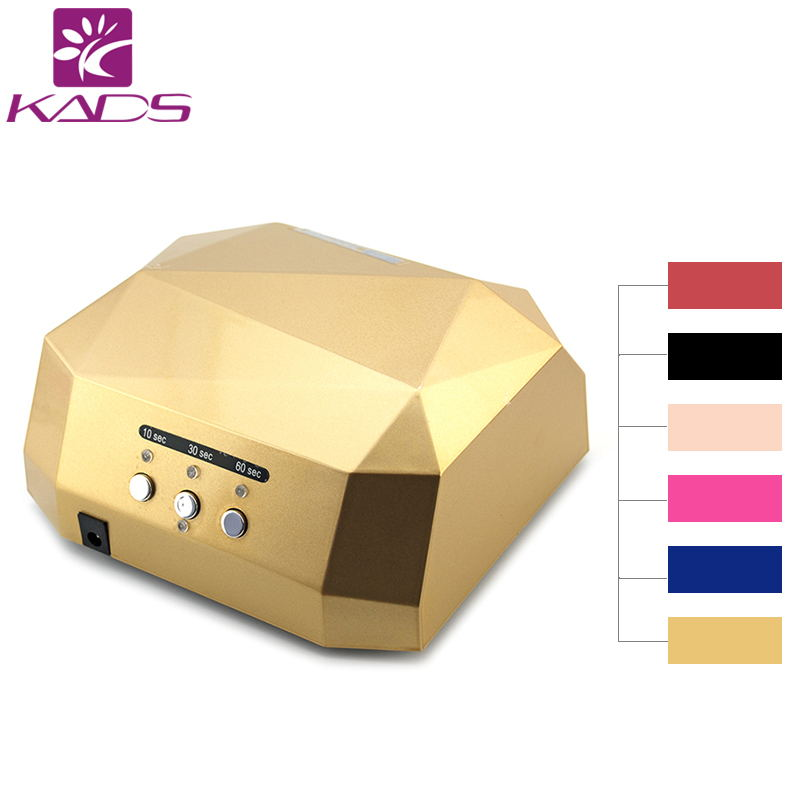KADS UV Lamp LED Nail Lamp Nail Dryer Diamond Shaped 36W Long LIife LED CCFL Curing Nail Tools for UV Gel Nail Polish Art Tools auto sensor uv lamp 36w led lamp nail dryer gel nail lamp curing for light nail dryer polish nail tools diamond shaped