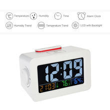 Discount! Digital Thermometer Hygrometer Clock LCD C/F Temperature Humidity Meter weather station Alarm Clock Snooze electronic desk clock
