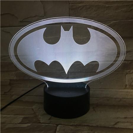 Us 9 65 31 Off Dc Justice League Batman Logo Usb 3d Led Night Light Cartoon Superhero Boys Child Kids Birthday Gifts Table Lamp Bedside In Led Night