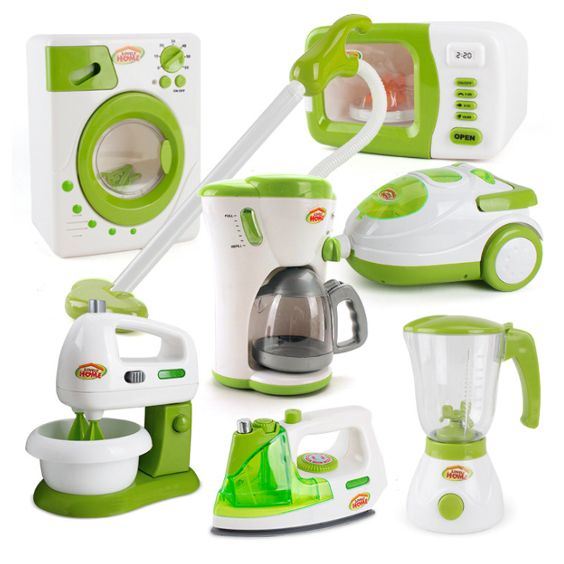 New 1 Pcs Pretend Play Toy Housekeeping Toy Vacuum Cleaner Toy Cleaning Juicer Washing Sewing Machine Mini Clean Up Toy