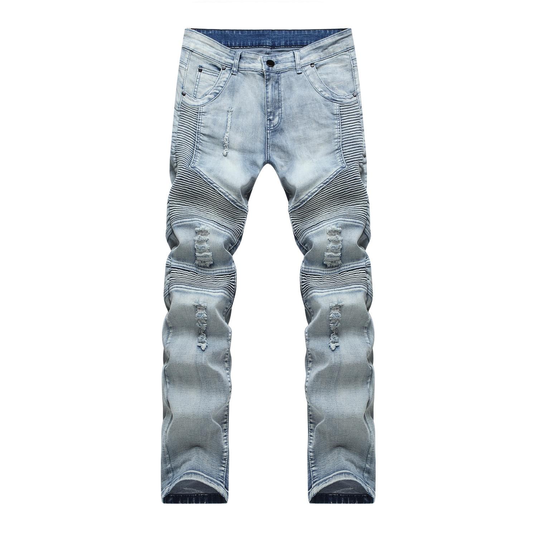 Mens Skinny Jeans Men 2017 Runway Distressed Slim Stretch Jeans Denim Ripped Biker Jeans Hiphop Pants Washed Black Jeans 1801 thin stretch jeans ripped denim trousers slim skinny black jeans men new famous brand biker jeans elastic mens jeans l702