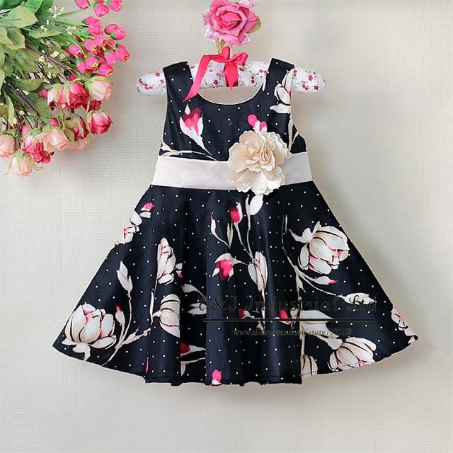 Hot Sellers Children Summer New Dress Kids Girls Flower Party Dresses For Infant Wear Child Clothing Ready Stock E130105-29