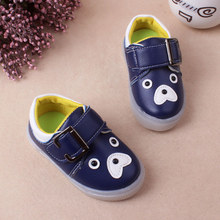 New Baby Sport Shoes Leather Cartoon LED Lights Boys Girls Baby good quality casual shoes Sneakers Comfortable Kids Flats Shoes