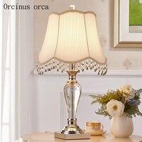 Americano retrò da tavolo di cristallo lampada soggiorno lampada da comodino moderna semplice e creativo decorativo lampada da tavolo di trasporto libero
