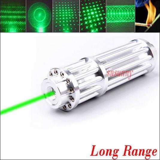 НОВЫЙ зеленый лазерный указатель 10000 МВт 10 Вт Фокус Горящий Lazer Beam Военная 532nm Зеленые Лазеры сжечь черный матч поп воздушный шар + 5 шапки