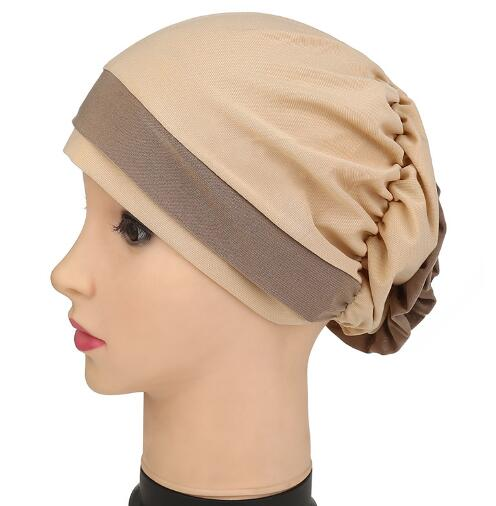 2017 Lady New women Folded turban cap Georgette Flower Headcover for Cancer Chemo Hair Loss Cap Color Hat metting joura vintage bohemian green mixed color flower satin cross ethnic fabric elastic turban headband hair accessories