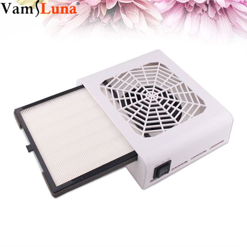 40W Strong Power Stainless Nail Dust Suction Fan Collector Art Salon Suction Dust Collector Machine Vacuum