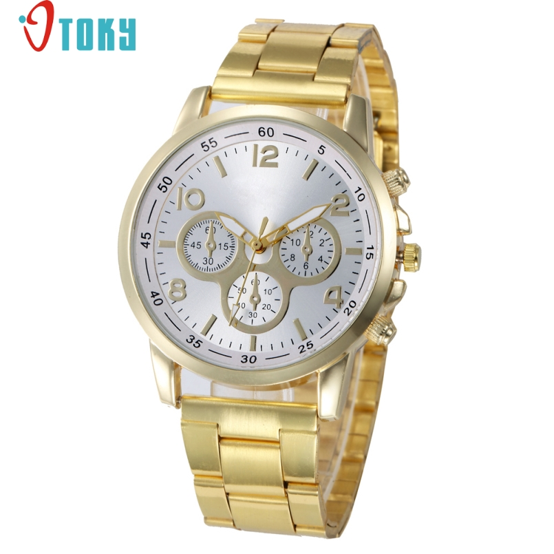 Excellent Quality OTOKY Woman Watches New Brand Stainless Steel Diamond Dress Women Quartz Wristwatch Lady Clock Montre Femme