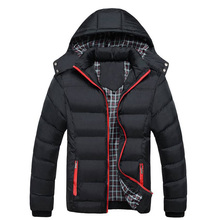 Для мужчин с капюшоном зимние пальто для мальчиков с капюшоном плюс Размеры XXXL 4XL Куртки подросток Slim Fit ветровка Парка на пуху Толстовки, YA340