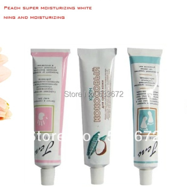 10 PCS Hand Cream Lotions Coconut Peach Flavor 75ml Christmas Gifts Free Shipping