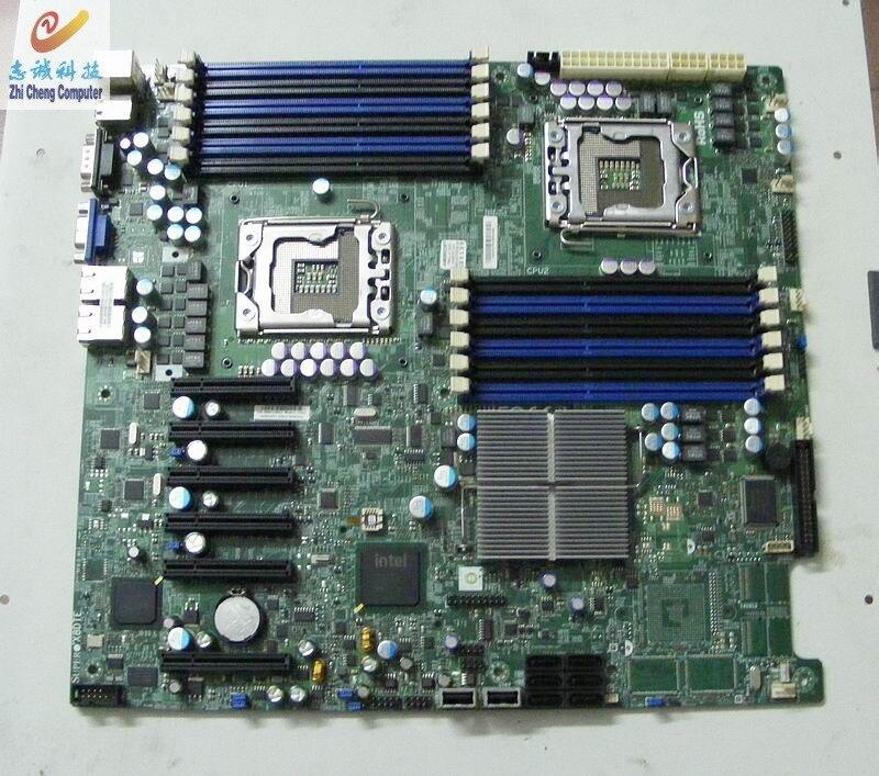 X8DTE 1366-Pin X58 Двухпроцессорный Материнская плата сервера 5520 чипсет поддерживает X5690
