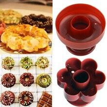 1 Pieza de plástico para máquina de gofres y donuts, molde de rosquilla portátil con forma de flor, molde para gofres, herramienta para postres de cocina