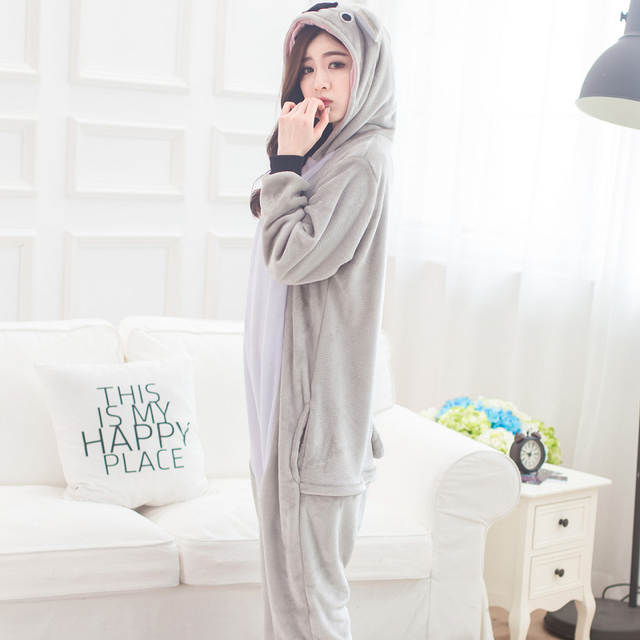 cde68297dd Online Shop Winter Flannel Warm Animal Pajamas One Piece Cosplay Adult  Onesie Cartoon Koala Sleepwear Home Clothing Couple Pajama Sets