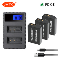 JHTC 3pcs LP E17 LPE17 LP E17 battery and Smart LCD Display USB Charger for Canon EOS Rebel T7i T6i T6s SL2EOS M6 M5 M3 77D 750D
