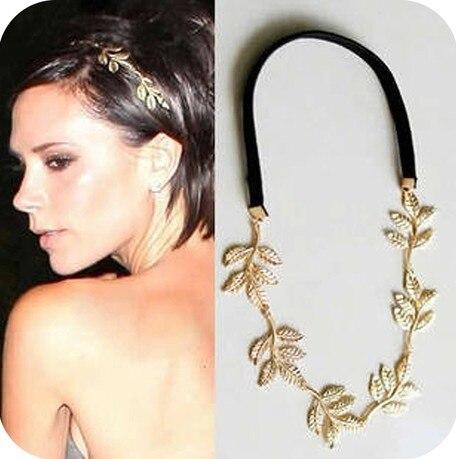 Бесплатная доставка новая мода британский стиль романтическая оливковая ветвь оставляет веревки украшения ленты для волос аксессуары упр...