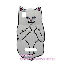 Для ZTE Blade X3 Case 3D смазливая мультфильм белый Cat Мягкие Силиконовые Case Обложка Для ZTE Blade X3 X 3 D2 Задняя Крышка Телефона случаях