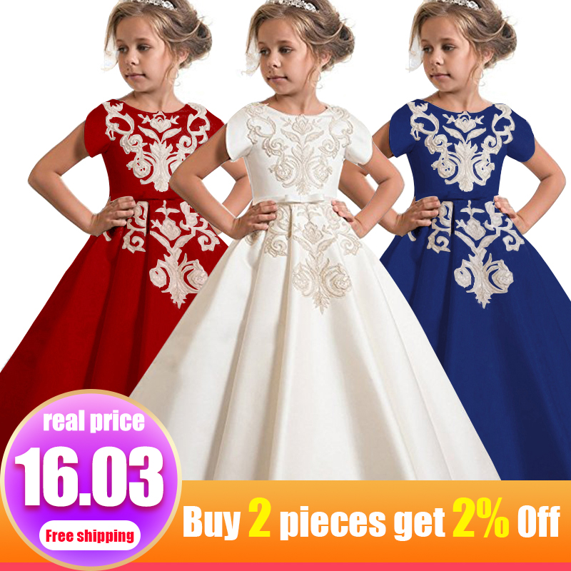 Girls first communion dresses girls flower dresses children weddings prom ball gown dresses kids child costume vestido comunion