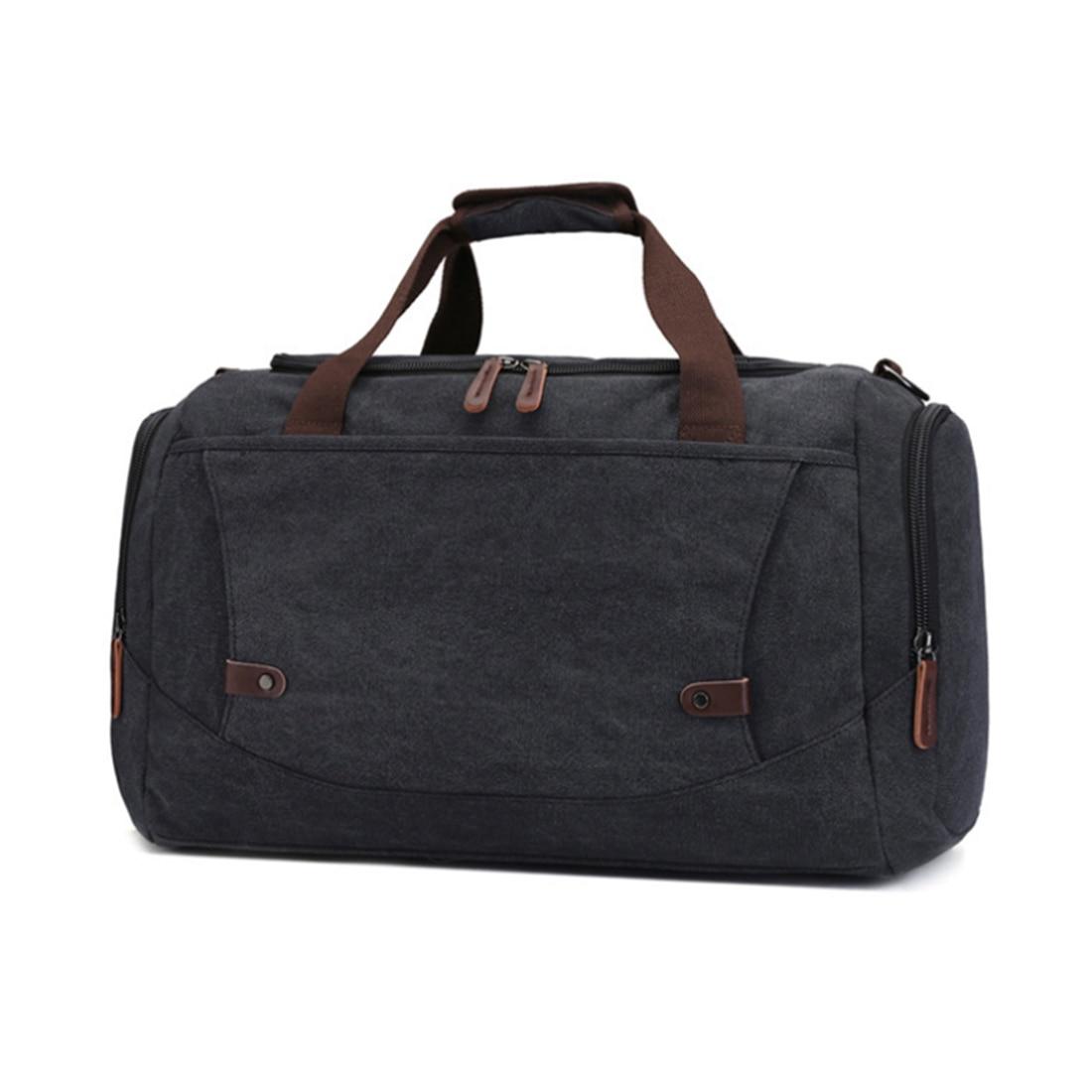 Men's Bag Male Travel Bags With Big Capacity Canvas Handbag Travelling Luggage Single-Shoulder Bag Black For Men Teenager Hot