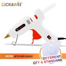 GOXAWEE Hot Melt Glue Gun Electric Professional Glue Gun High Temp Melting Glue Graft Repair Thermo Tool With 10 pcs Glue Sticks