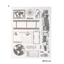 12 Styles  silicon clear Stamp Stamp DIY Scrapbooking Photo Album Card/Card Making/ Decoration Supplies
