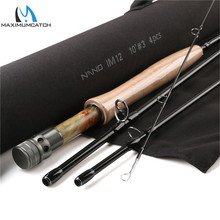 Maximumcatch NANO Nymph 10FT 3/4wt Fly Fishing Rod IM12 Graphite Carbon Fiber Quick Motion Fly Rod with Cordura Tube
