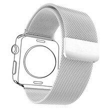 1:1 D'origine Bracelets Pour Applewatch 2 Hommes/Femmes Milanese Boucle Bande Bracelet En Acier Inoxydable 316L et Montre Étui de protection APB1757