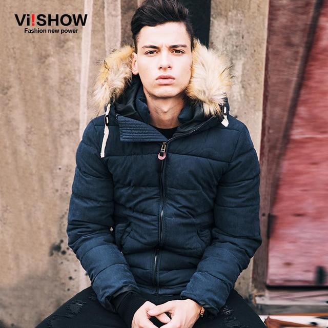 VIISHOW 2016 New Mens Winter Jacket Men's Hooded Wadded Coats Outerwear Male Slim Casual Cotton Outdoors Outwear Jackets