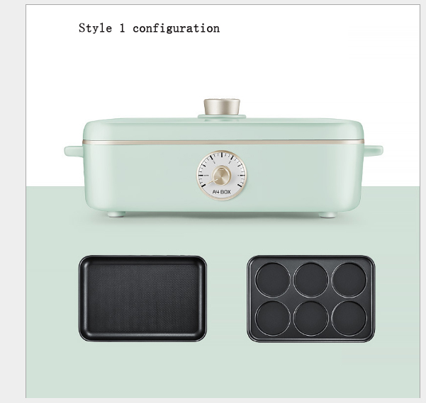 Electric oven Integrated electric baking tray Hot pot barbecue machine 4Gear temperature adjustment 1500WElectric oven Integrated electric baking tray Hot pot barbecue machine 4Gear temperature adjustment 1500W