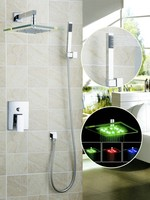 Ouboni Shower Set Torneira LED Light 8 Inch Shower Head Bathroom Rainfall 50220 43B Bath Tub