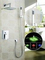 Ouboni Shower Set Torneira LED Light 8 Inch Shower Head Bathroom Rainfall 50220 43B Bath Tub