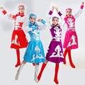 Criança traje mongol para palco de dança mulheres de etnia chinesa mongolia dança dress senhora chinesa minoria roupas vestuário 89