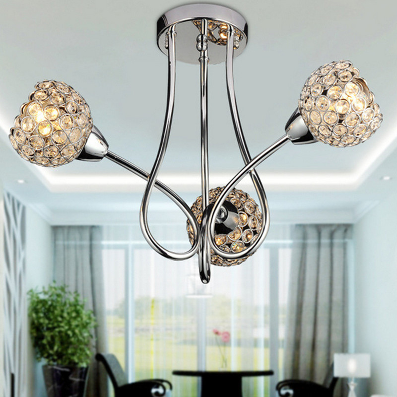Crystal Ceiling pendant lamp E14modern minimalist living room dining room hotel lighting foyer light segmented dimming FRHC/48 a1 master bedroom living room lamp crystal pendant lights dining room lamp european style dual use fashion pendant lamps